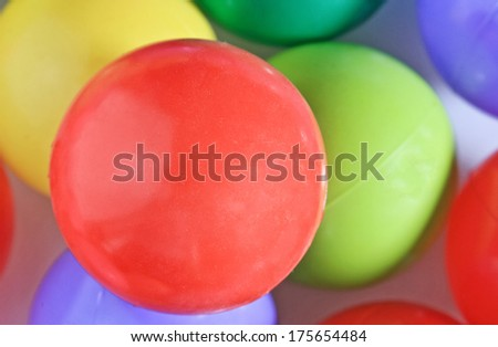 Close up colorful ball. - stock photo