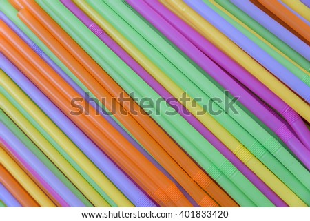 close up Colorful drinking straws background , abstract