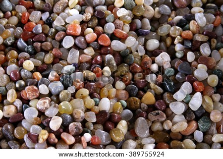 Close up colorful pebbles - stock photo
