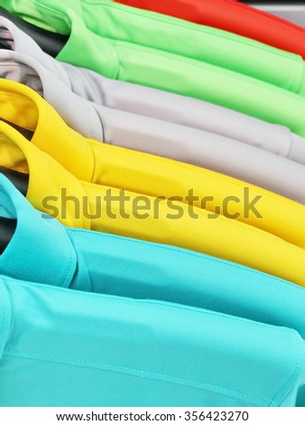 Close Up Colorful Polo Shirt