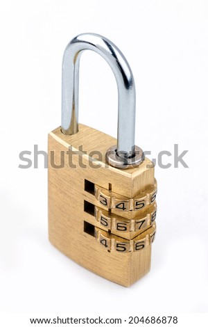 Close-up combination padlock - stock photo