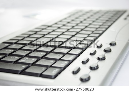 Close up computer keyboard