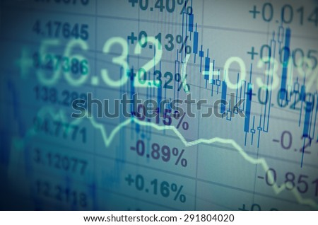 Close-up computer screen with trading platform window. - stock photo