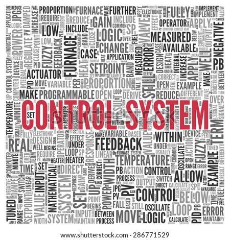close control system text center word stock illustration  close up control system text at the center of word tag cloud on white background