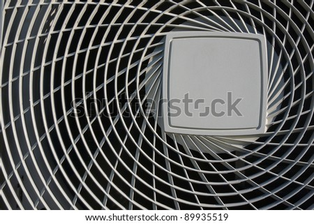 close up cover of air condenser - stock photo