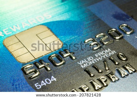 Close Up Credit Card background - stock photo