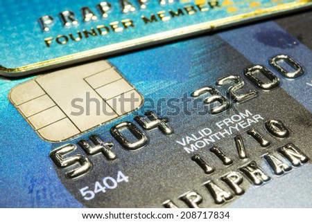 Close Up Credit Card background