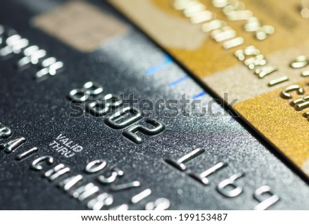 Close up Credit card for background.