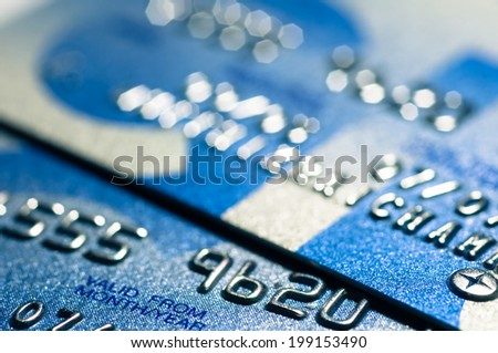 Close up Credit card for background. - stock photo