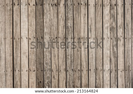 close up decorative background of  old wooden  bridge floor - stock photo