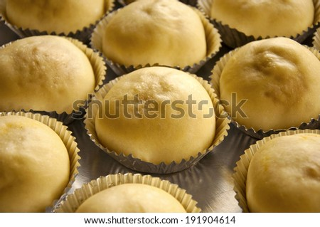 close up, delicious homemade cakes at open market,Thailand(ripe cakes) - stock photo