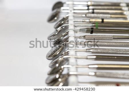 Close-up Dental Instruments - stock photo