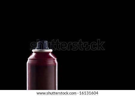 close-up deodorant isolated on black - stock photo