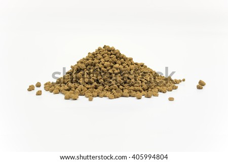 Close Up Detail of a Pile of Akadama Soil Isolated on White Background - stock photo