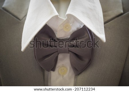 close up detail of an elegant groom's suit - stock photo