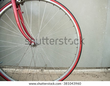 Close-up detail of cogwheel on a vintage bicycle - stock photo