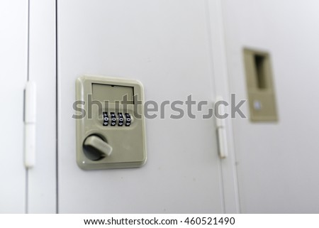 Close up detail of Safe Locker. - stock photo
