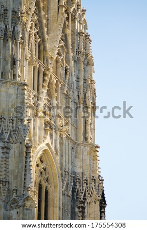 Close up detail of st. Stephan cathedral in Vienna. - stock photo