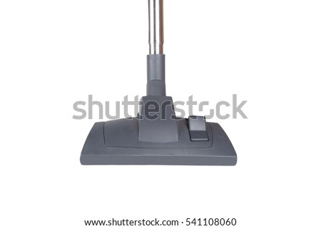 Close up detailed front view of vacuum cleaner, isolated on white background.