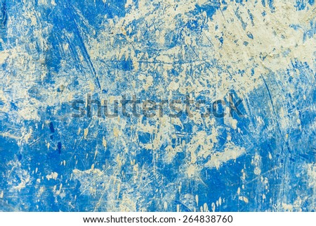 Close up dirty blue trashcan - stock photo