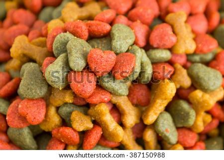 Close up dog food background. - stock photo