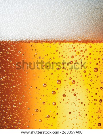 Close up drops of a Ice Cold Pint of Beer - stock photo