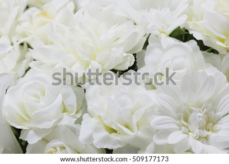 Close fake white flowers texture high stock photo royalty free close up fake white flowers texture high key soft focus mightylinksfo
