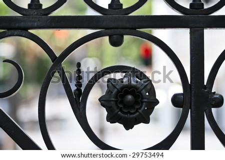 Close Up Fence Decoration - stock photo