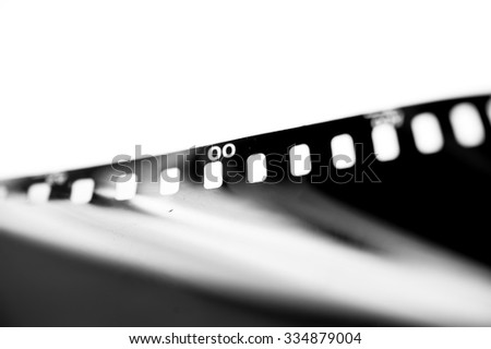 Close-up Film of a roll 35 mm photographic film,Selective focus with shallow depth of field. - stock photo