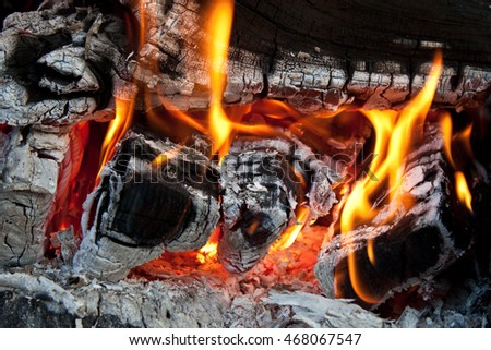 Close up fire
