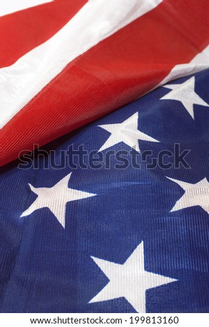 Close up flag of United State of America