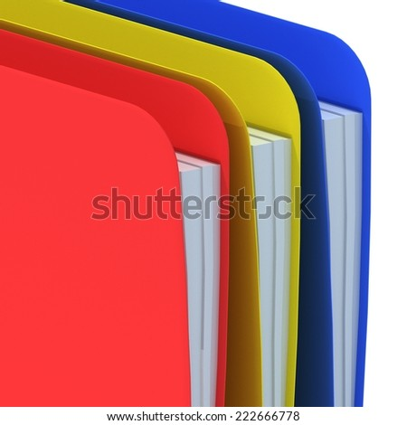 Close up folders with documents - stock photo