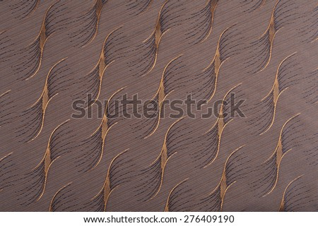 close-up fragment texture brown fabric with diagonal pattern studio  - stock photo
