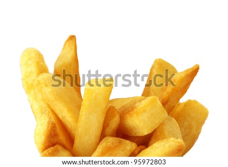 close-up french fries - stock photo