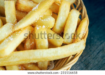 Close up french fry food - stock photo