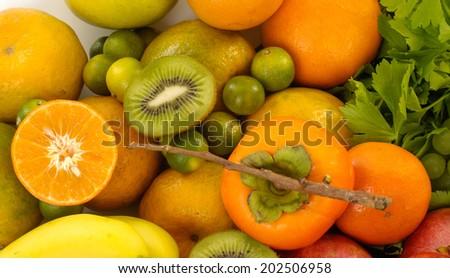 Close up fresh healthy fruit  - stock photo
