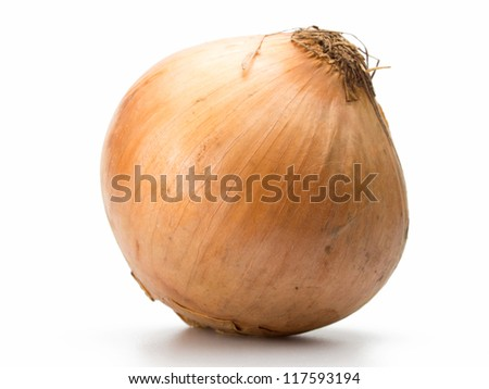Close up fresh Onion isolated on white background