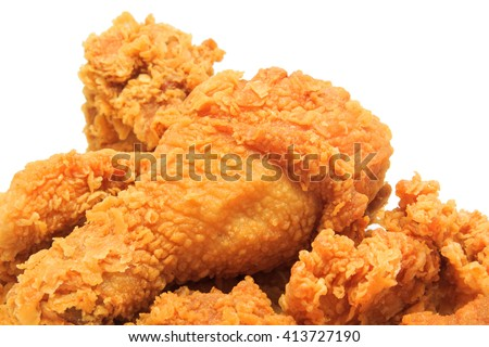 close up fried chicken