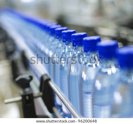 Close up from a bottle industry - stock photo