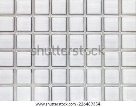 Close - up glass block wall background   - stock photo