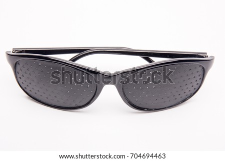 Close-up Glasses to protect eye on white background