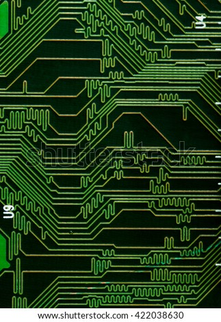 close-up green pcb board texture background