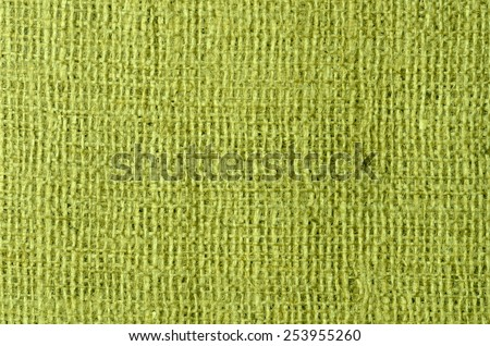 close up green sackcloth background - stock photo