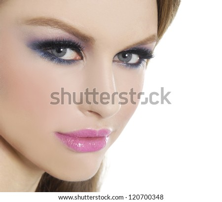 Close up gsexyirl . Perfect Skin - stock photo