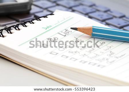 To Do List Book To Do Notebook