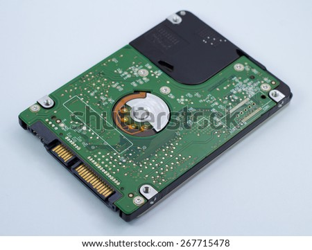 Close up harddisk drive - stock photo