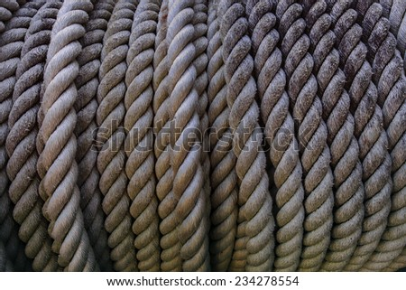 close up high depth of rough rope texture use for industrial object background,backdrop - stock photo