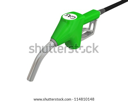 Close-up illustration of fuel pump nozzle isolated on white background