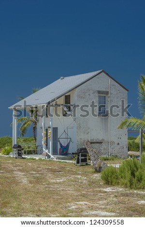 Close-up image of a barn in the island of Dry Tortugas - stock photo