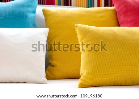close up image of colorful pillow